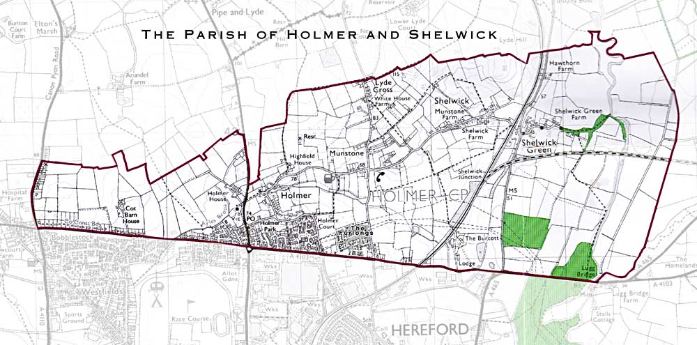 Holmer Shelwick Parish Map