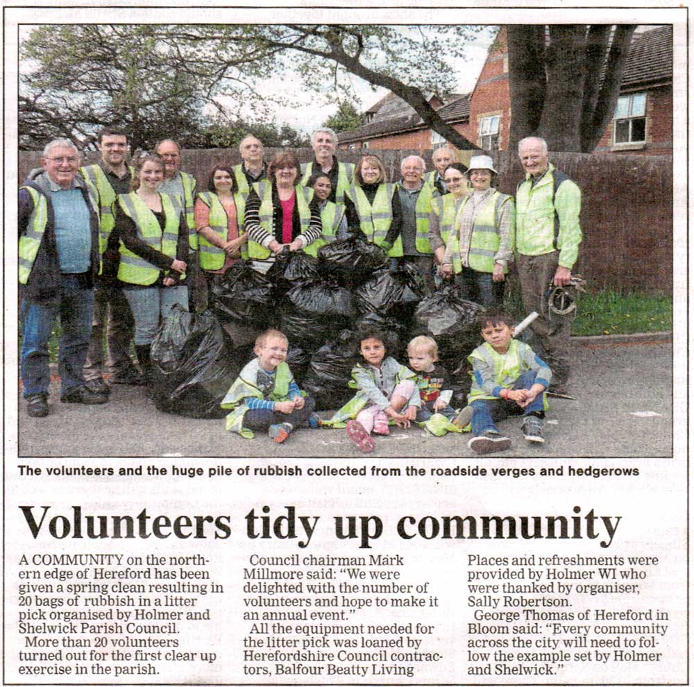 Litter Pick Hereford Times