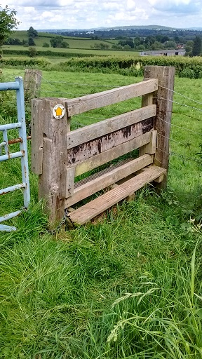 HO10 Stile cleared, but in need of repair.