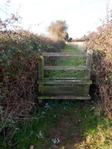 HO9 stile at SO 516 431 near White House Farm on 29.12.19 – usually needs the brambles cutting back